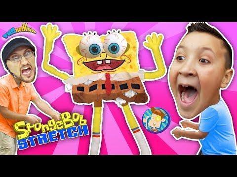 Spongebob Squarepants Stretch Test! Annoying Sponge (FUNnel Vision Stretchkins Dance Plushies)
