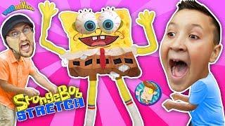 Annoying Spongebob Squarepants Toy Stretch Test! (FUNnel Vision Stretchkins Dance Plushies)