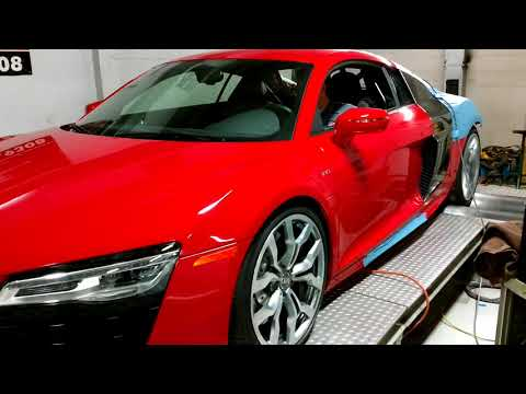760HP ESS Supercharged Audi R8 Dyno!