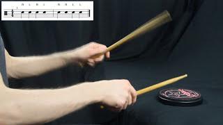 Уроки игры на барабанах. [Упражнения для рук №1]
