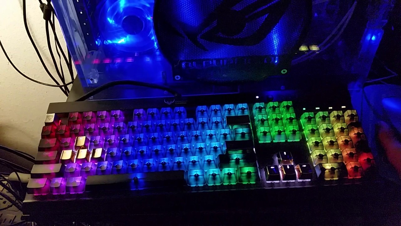 K70 RGB Keyboard with ckb on Republic of Gamers ROG Custom Built PC using  Scientific Linux