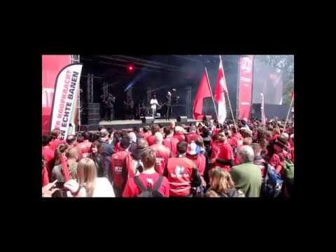 1Mei 2015 FNV dag optreden Lange Frans Amsterdam.