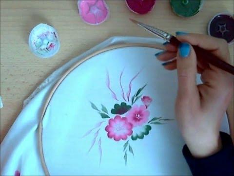 ed6604acb8 Come dipingere sulla stoffa. Corso per principianti. - YouTube