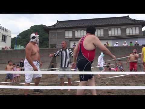 信州プロレス 2017-07-16 谷浜海水浴場マッチ第一試合