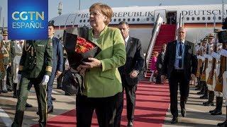 Angela Merkel llega a China para realizar una visita oficial de dos días