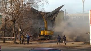 Разрушели дом на Красноармейском шоссе в г.Вязьма