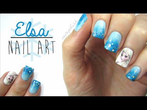Elsa Frozen Nail Art!