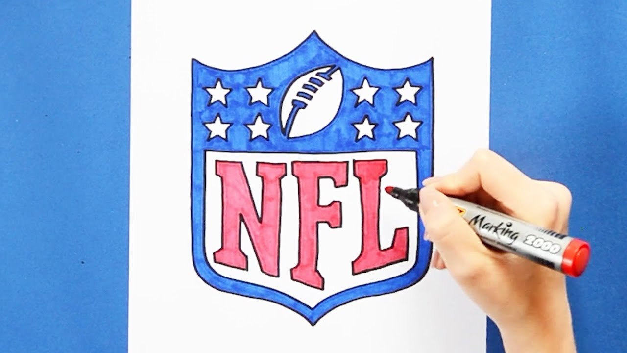 How to draw National Football League (NFL) Logo