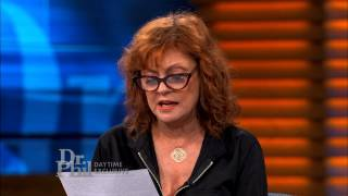 Susan Sarandon Grows Emotional When Reading Richard Glossip's Statement -- Dr. Phil