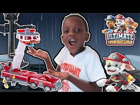 Rainy Day Rescue With PAW Patrol Ultimate Fire Rescue