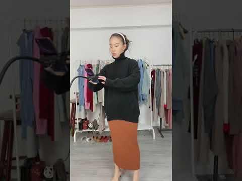Kết Hợp Chân Váy Len Dài Với Các Kiểu áo