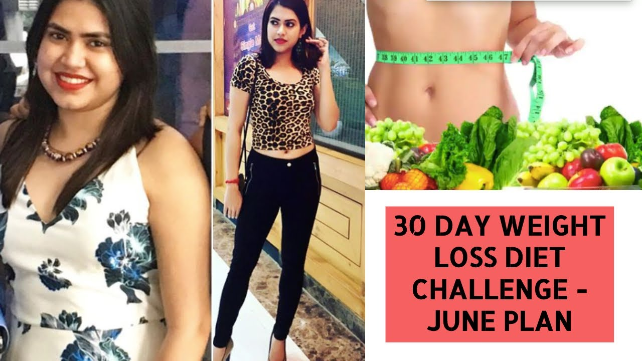 30 days Weight Loss DIET CHALLENGE – JUNE   How to count Calories, Daily chart, Monthly Indian diet