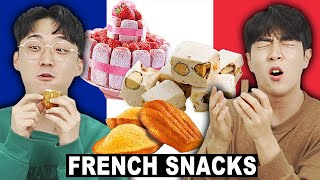 Korean Guys Try French Snacks..... Oh là là !