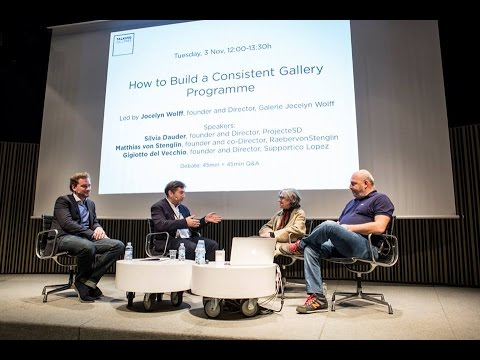 'How to Build a Consistent Gallery Programme'. Talking Galleries Barcelona Symposium 2015