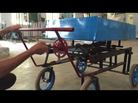 Low cost mechanical engineering mini project - Awards won project. /BULLOCK CART- (Prototype  Model)