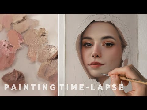 oil-painting-time-lapse-||-marzia