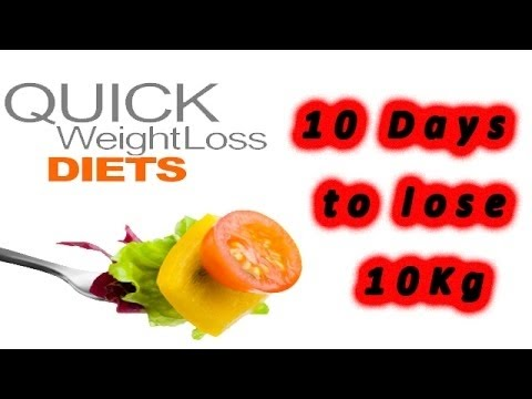 How to Lose Weight Fast 10 kgs in 10 days – 1000 Calorie Weight Loss Plan