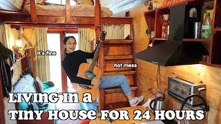 living in a tiny house for 24 hours | clickfortaz