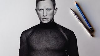 Drawing Daniel Craig as James Bond