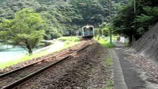 肥薩線 吉尾駅 1230D 八代行き 入線