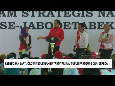 Heboh Ibu Enggan Turun Panggung Sebelum Terima Sepeda dari Presiden Jokowi Mp3