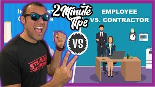 2 Minute Book Tip What Is The Difference Between Form W2 Employee & Form 1099 Independent Contractor