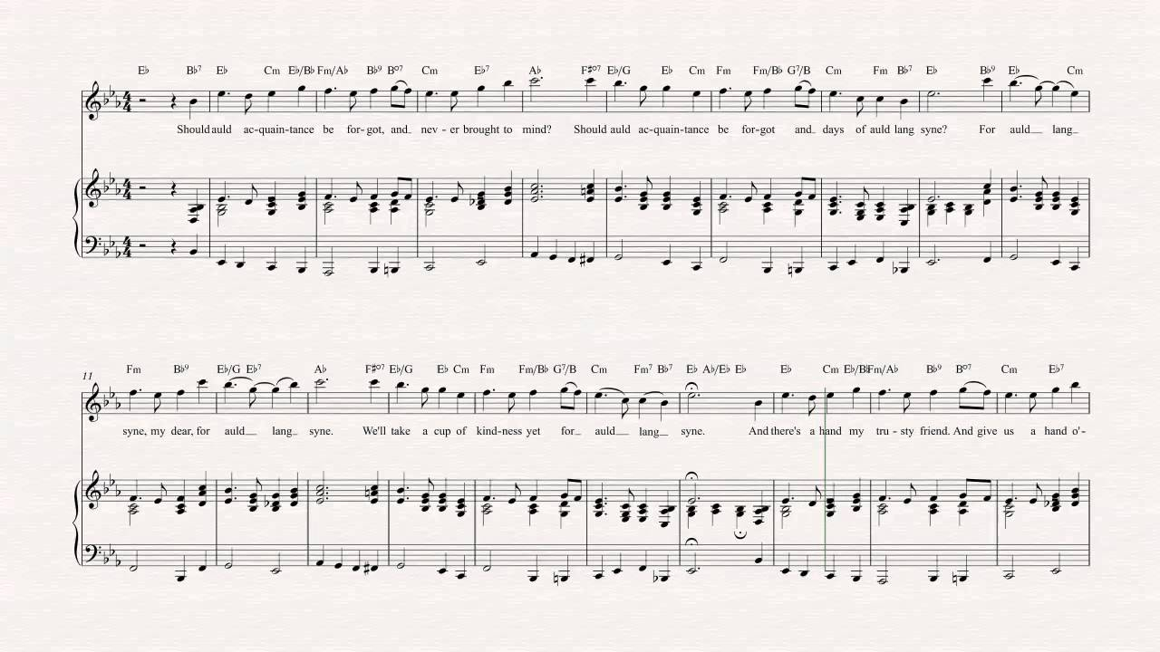 Auld Lang Syne Chords Piano Images Piano Chord Chart With Finger