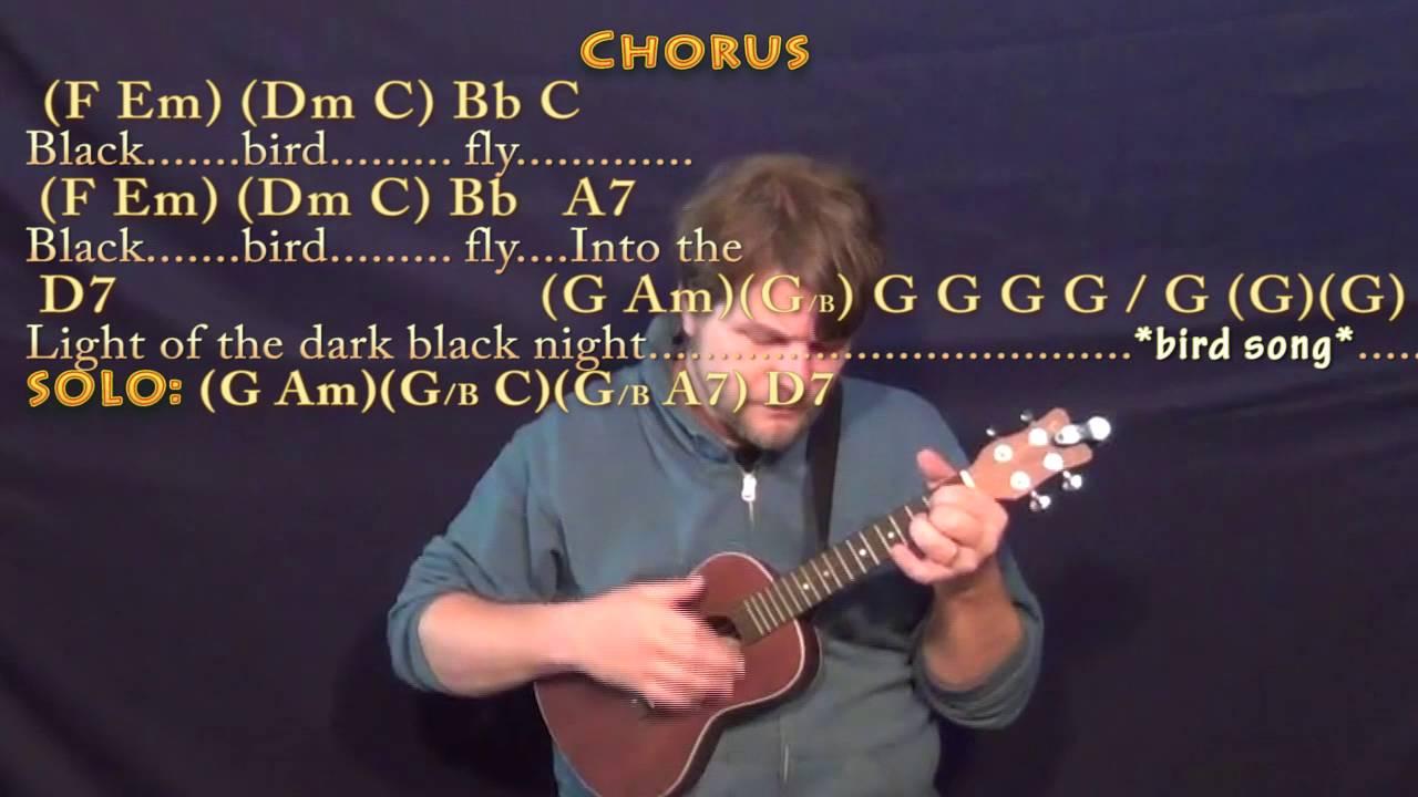 Blackbird The Beatles Ukulele Cover Lesson With Chordslyrics