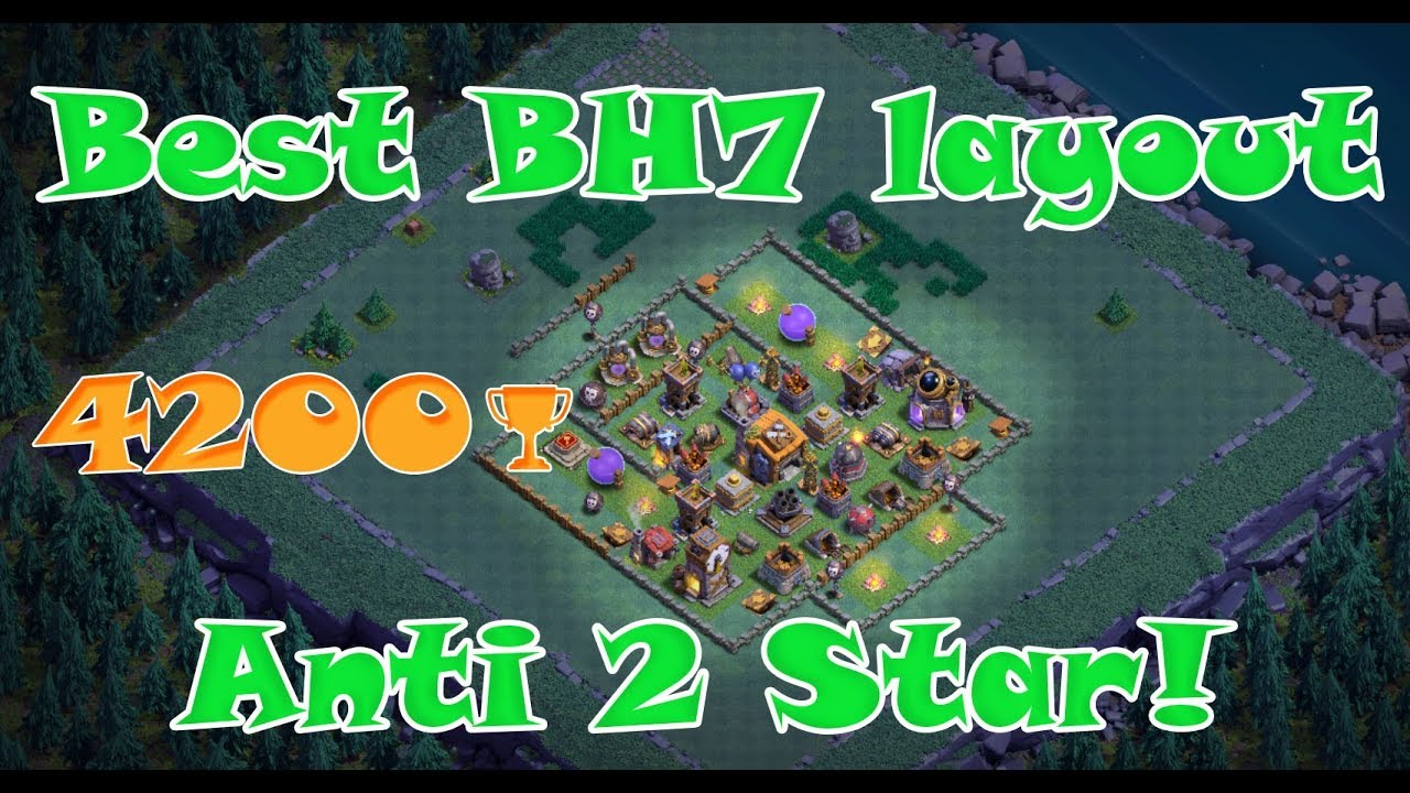 Best Builder Base Layout Level 7 Versus Clash Of Clans Anti 2 Star Youtube