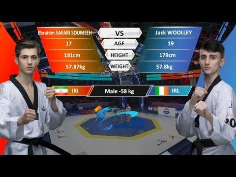 M-58kg| Jack Woolley (IRL)  VS  Ebrahim Safari Soumeeh (IRI) | 2017-2018 Season WT Grand Slam Finals