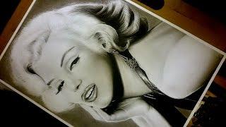 Time lapse / speed drawing - Marilyn Monroe