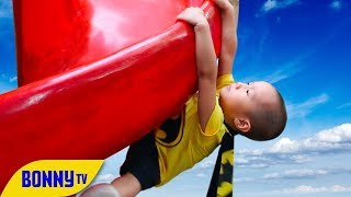 Funny Outdoor Playground for kids l children's entertainment l Outdoor Playground Fun with BonnyTV