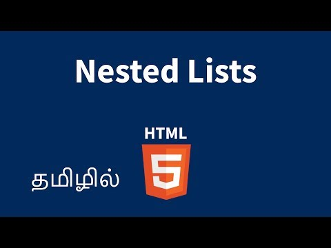 HTML Nested Lists Explained In Tamil