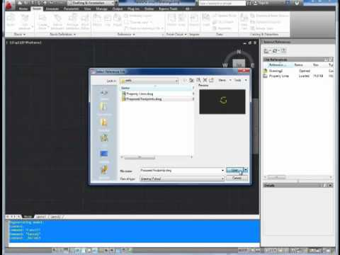 Autocad Tutorial; How to use Xrefs - external references