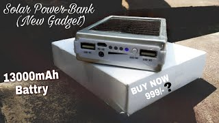 Solar Energy Power - Bank With LED Light Review To Solar Power-Bank Buy Now 999 - Flipkart 13000mAh