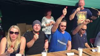green chillies eating competition