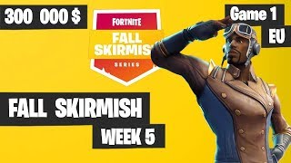 Fortnite Fall Skirmish Week 5 Game 1 EU Highlights (Group 1) - Royale Flush