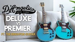 D'Angelico Deluxe vs. Premier Brighton Guitar [Brighton Solidbody Guitar Demo & Review]