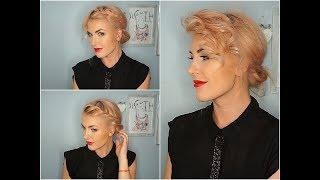 Upięcie dla krótkich WŁOSÓW|short HAIR|prosta FRYZURA  #1