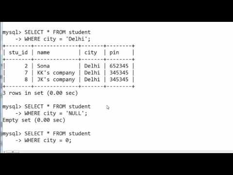 26. IS NULL And IS NOT NULL In SQL (Hindi)