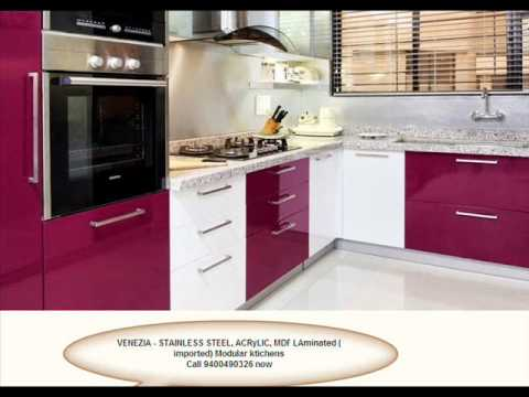 Low Cost Stainless Steel Finish Aluminium Kitchens
