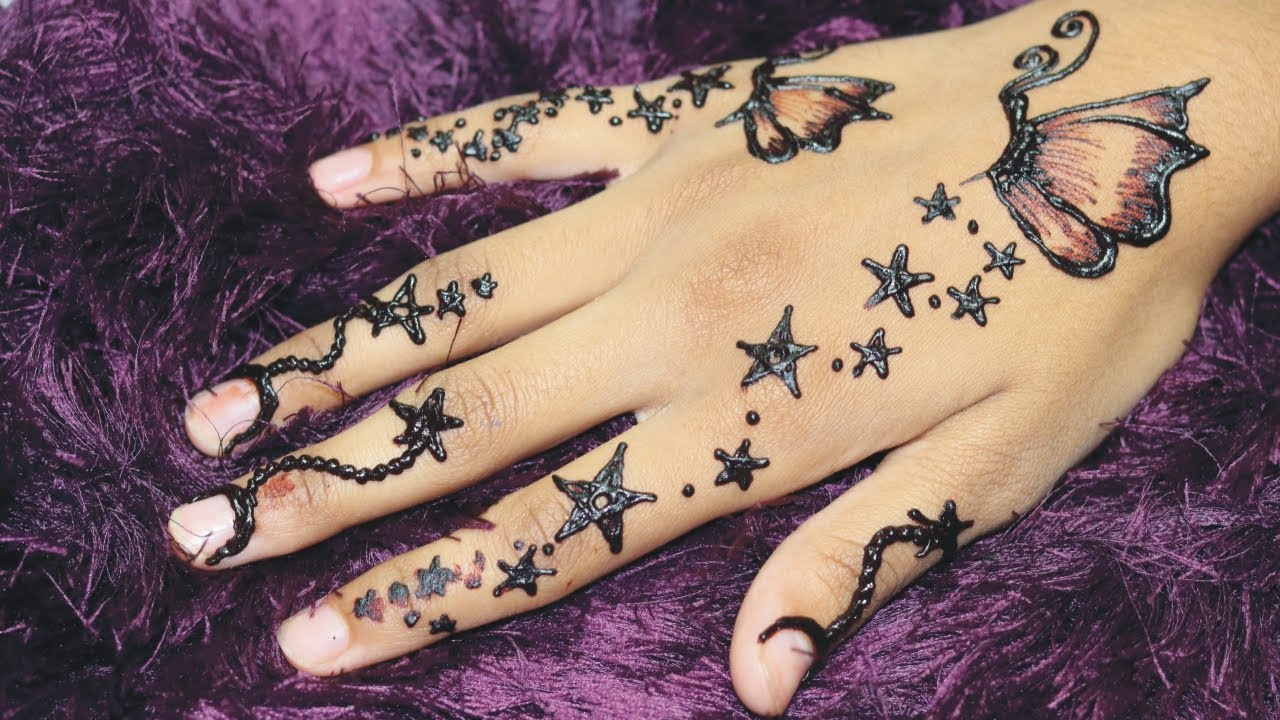 Classy Butterfly Mehndi Style For Kids Little Princesses Star Style Crazy Henna Art