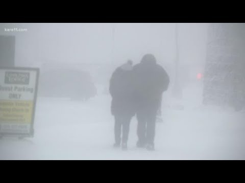 Blizzard conditions hit Duluth