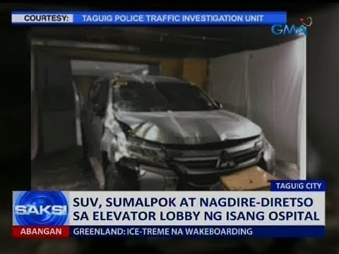 Saksi: SUV, sumalpok at nagdire-diretso sa elevator lobby ng isang ospital