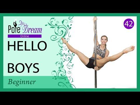 Hello boys pole dance tutorial intermediate / advance pole.