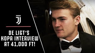 DE LIGT'S AIRPLANE INTERVIEW! ✈️🤵🎙 | JUVENTUS DEFENDER REACTS TO KOPA TROPHY WIN