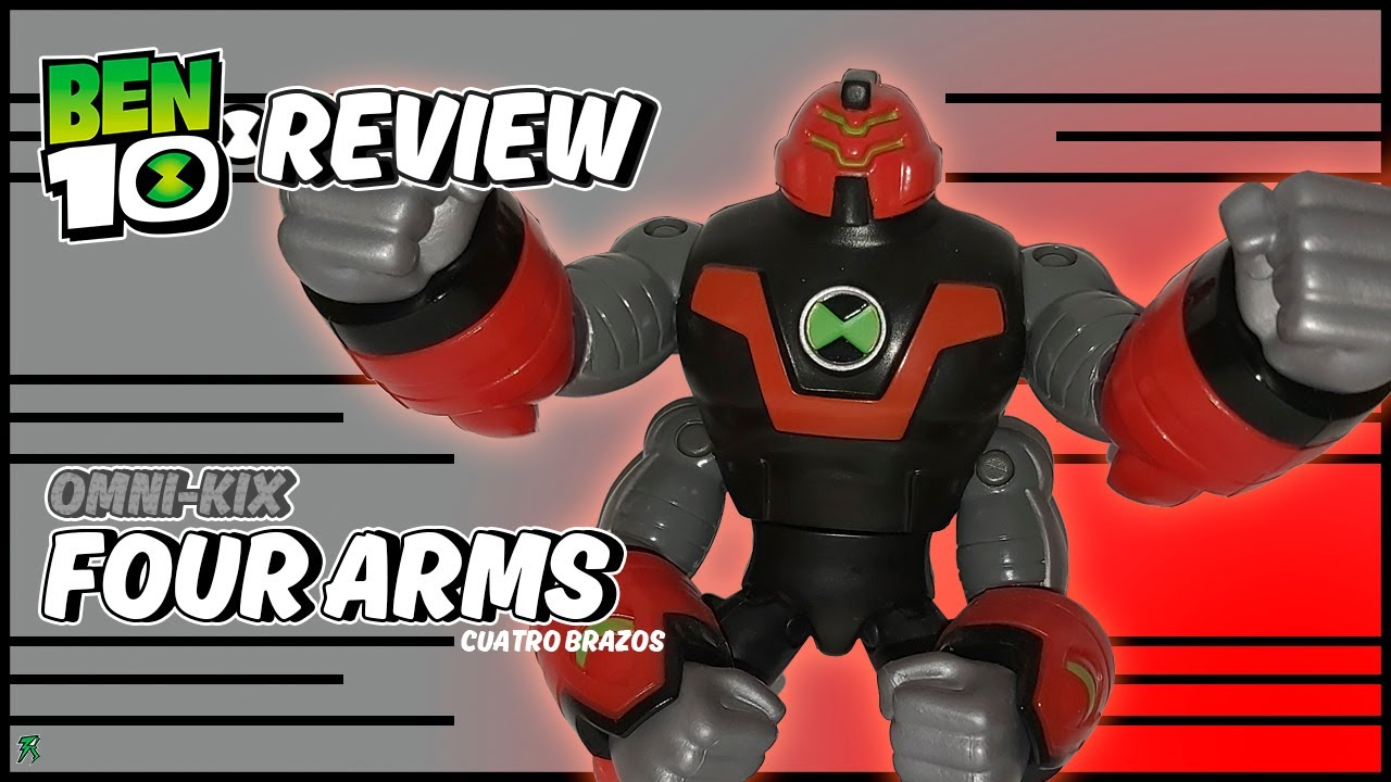 FOUR ARMS OMNI KIX | BEN 10 REBOOT | (RV-REVIEW #37) PLAYMATES 2020