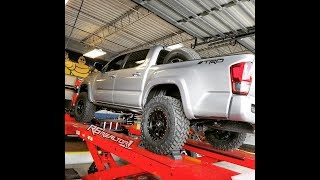 Walk around of my brand new lifted toyota tacoma 4x4, ome bp-51, tires, wheels, grille