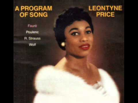 Leontyne Price, a Program of Song. Fauré, Poulenc, Strauss, Wolf.