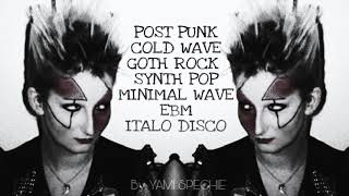 Postpunk, Coldwave, SynthPop, Minimal Wave, Ebm, Italo Disco. PARTY MIX